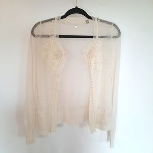 Anthropologie Knitted & Knotted Sheer Cardigan